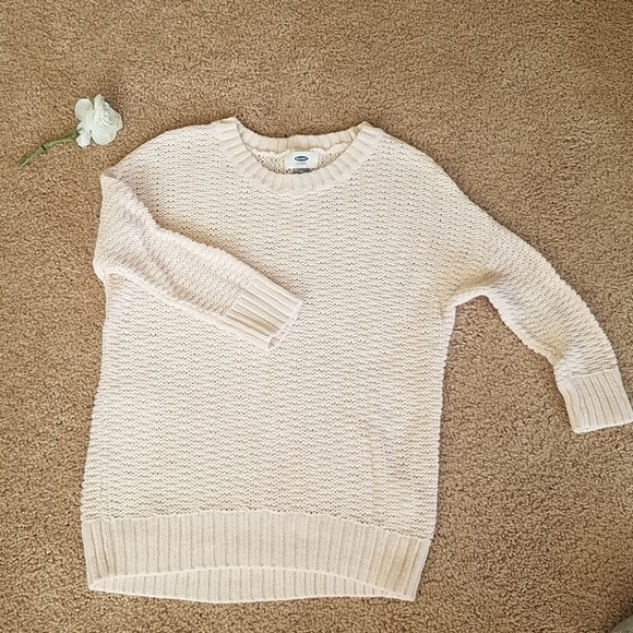 Old Navy Sweaters - 4 for $25- Old Navy pale pink open knit sweater XS